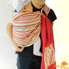 Palm and Pond Reversible Baby Sling Ring Carrier Wrap