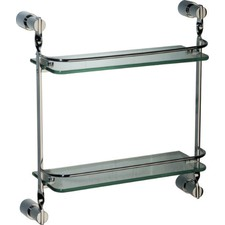 Sapphire 2-Tier Glass Shelf and Bracket