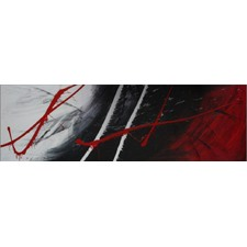 Abstract Canvas Painting in Black and Red