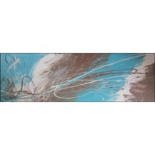 Abstract Canvas Painting in Turquoise / Brown