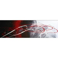 Abstract Canvas Painting in Red / Black