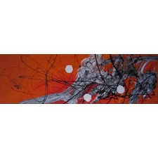 Abstract Canvas Painting in Orange