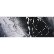 Abstract Canvas Painting in Black and White