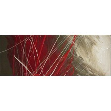 Abstract Canvas Painting in Brown and Red