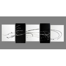 5 Piece Abstract Canvas Painting