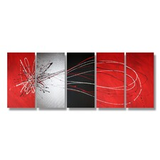 150 cm Abstract Canvas Painting in Red