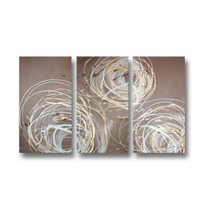 Twisters Abstract Triptych Wall Art