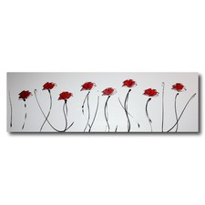 Red Poppies Abstract Wall Art