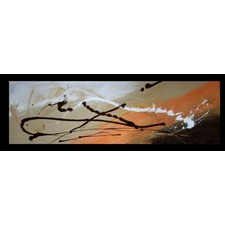 Abstract Canvas Painting in Orange and Brown