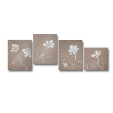 4 Piece Abstract Canvas Painting Set