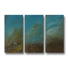 In Deep Abstract Triptych Wall Art