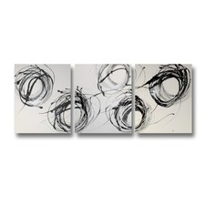 Whirling Abstract Triptych Wall Art
