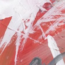 Crimson Strokes Canvas Wall Art