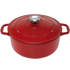Federation Red Chasseur 5L Round French Oven