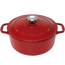 Red Chasseur 28cm Round Cast Iron French Oven