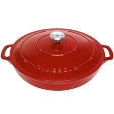 Red Chasseur 2.5L Round Cast Iron Casserole
