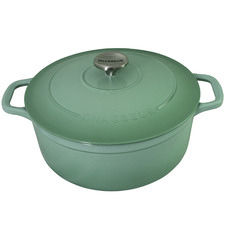 Peppermint Chasseur 24cm Round Cast Iron French Oven