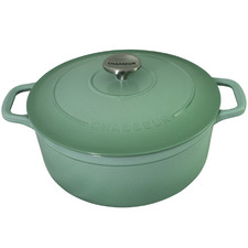Peppermint Chasseur 26cm Round Cast Iron French Oven