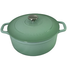 Peppermint Chasseur 28cm Round Cast Iron French Oven