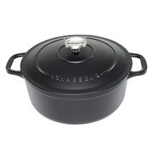 Matte Black Chasseur Classique 6.1L Cast Iron French Oven
