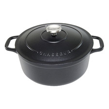 Matte Black Chasseur Classique 5L Cast Iron French Oven