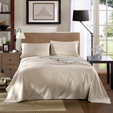 Sand Striped Chambray 1200TC Cotton Sheet Set