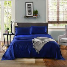 Indigo Striped Chambray 1200TC Cotton Sheet Set