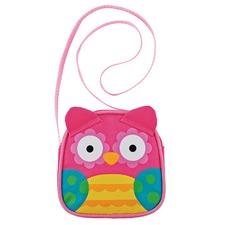 Pink Owl Crossbody Purse