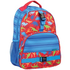 Red Dinosaur Print Backpack