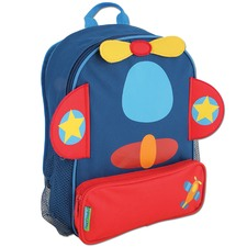 Dark Blue Airplane Sidekick Backpack