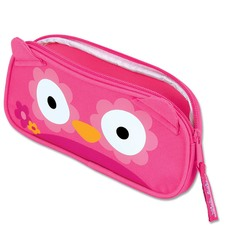 Pink Owl Pencil Pouch