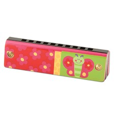 Pink Butterfly Harmonica
