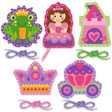 Pink Princess Lacing Cards