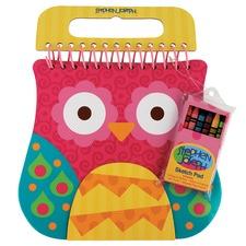 Pink Owl Shaped Sketch Pad