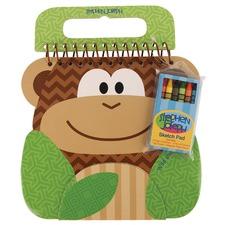 Brown Monkey Shaped Sketch Pad