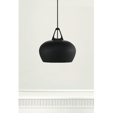 Black Bowl Metal Pendant Light
