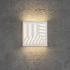 Maze Straight Pattern Exterior Wall Light