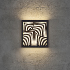 Maze Circles Pattern Exterior Wall Light