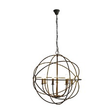 Taupe Iron Orb Chandelier