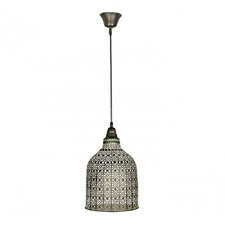 Pressed Metal Drop Pendant Light