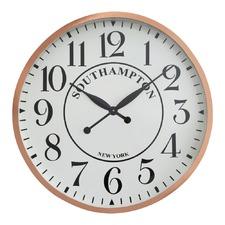 Copper Round White Face Clock
