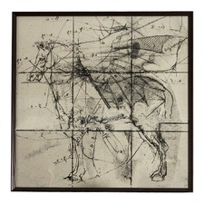 Mystical Horse With Black Frame