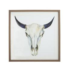 Animal Skull With Natural Frame