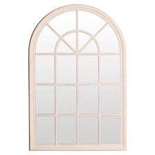 White Arch Mirror with Panes