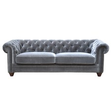 Light Grey Velvet Joshua 3 Seater Sofa
