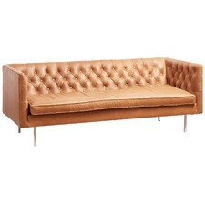 Russet Leather Abbey 3 Seater sofa