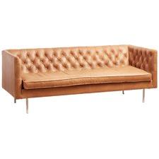 Tan Grace Italian Leather 3 Seater sofa