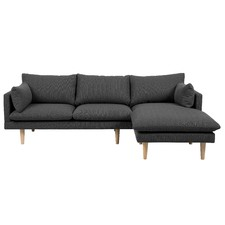 Grey Tia 2 Seater Sofa with Right Chaise