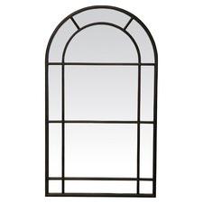 Black Medium Iron Arched Mirror