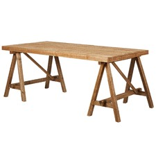 Rustic Pine Trestle Dining Table
